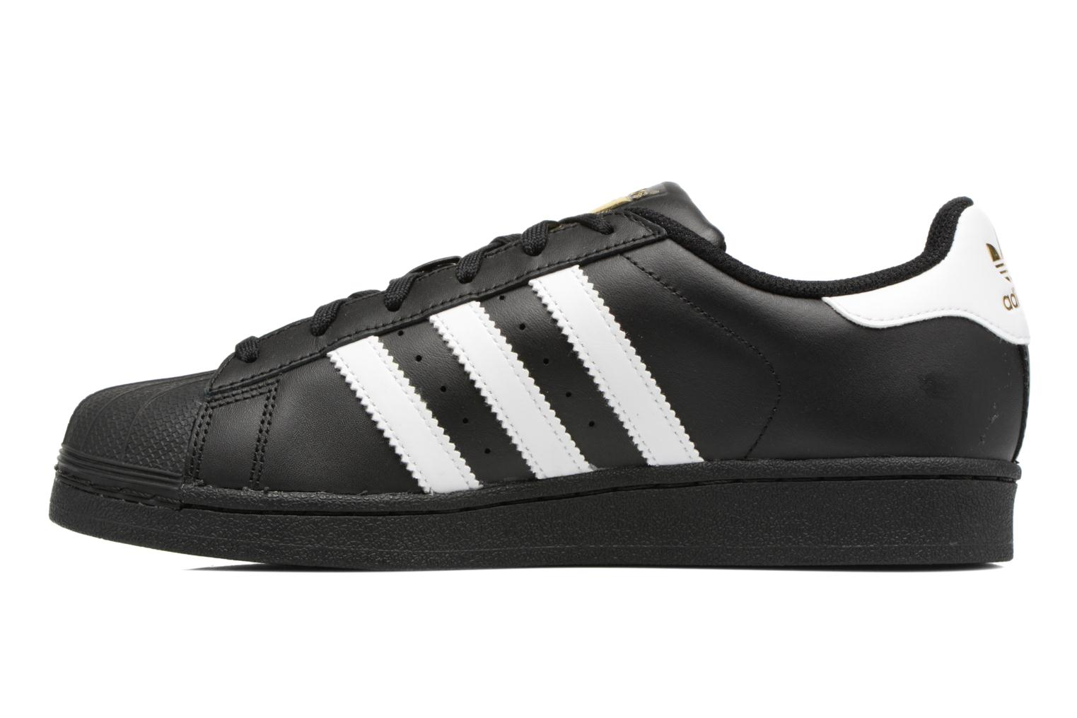Baskets Adidas Originals Adidas Superstar Foundation W Noir vue face